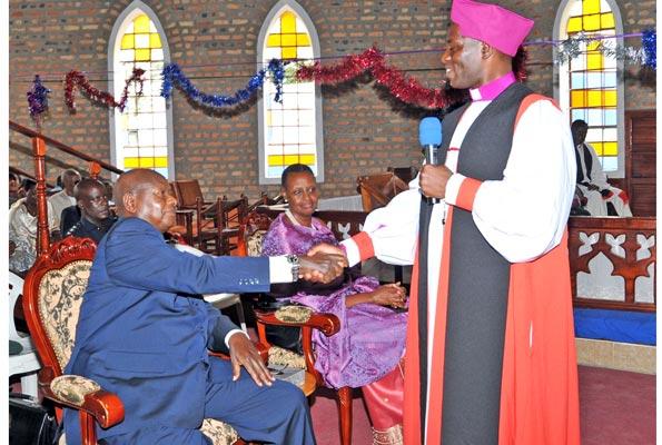 Bishop Prays For President Museveni