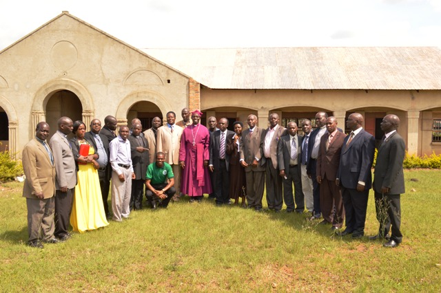 Diocesan Council Members at the site of the  University Study Center buildings under Construction